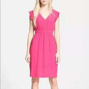 kate spade new york Fluid Crepe Frill Dress